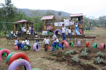 Playing GREEN- Promoting Environmental Education Through Art and a Recycled Playground